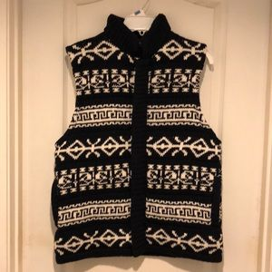 Navy Blue Holiday SweaterVest